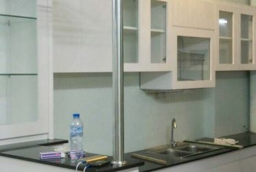 Thiết kế thi công tủ bếp gỗ công nghiệp MDF cho căn hộ CC Hưng Ngân