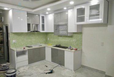 Thiết kế thi công tủ bếp Acrylic nhà anh Quang ở Tân Phú
