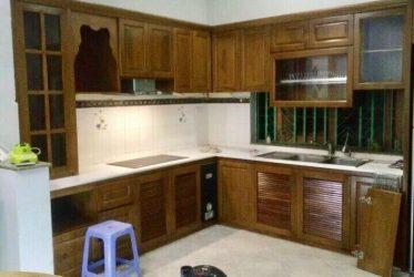 Tủ bếp gỗ sồi tự nhiên đẹp TBGS-003