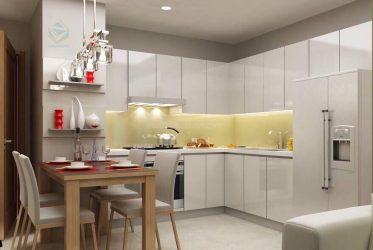 Thiết kế 3D tủ bếp đẹp căn hộ cao cấp
