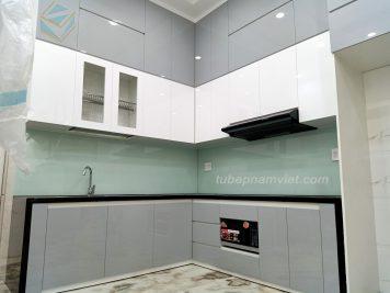 thiết kế thi công tủ bếp Acylic bóng gương An Cường giá rẻ tại Gò Vấp