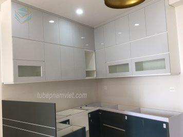 thiết kế thi công tủ bếp Acylic bóng gương An Cường giá rẻ HCM
