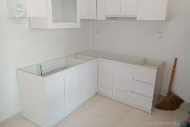 Thiết kế tủ bếp Acrylic chữ L TBARL-017