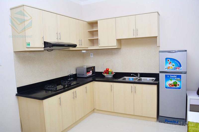 Thiết kế tủ bếp gỗ công nghiệp MDF kháng ẩm