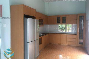 Thiết kế tủ bếp gỗ công nghiệp Melamine TBMM-002