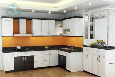 Thiết kế tủ bếp gỗ đơn giản