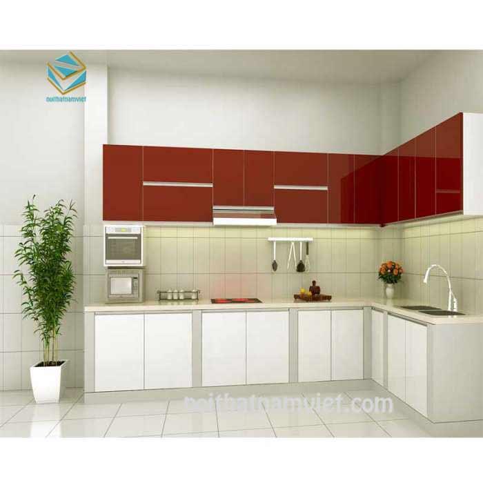 Thiết kế tủ bếp gỗ đơn giản phù hợp với tài chính nhiều gia đình