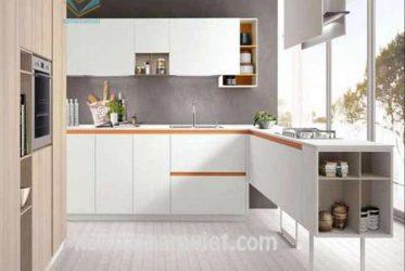 Tủ bếp đơn giản mà đẹp