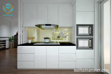 Thiết kế tủ bếp chữ I đẹp hiện đại cho không gian bếp nhỏ