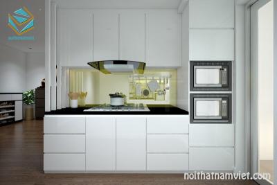 Thiết kế tủ bếp chữ I cho không gian bếp nhỏ đẹp hiện đại