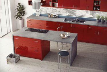 Mẫu tủ bếp Acrylic đẹp bóng gương chất lượng cao TBARL-013