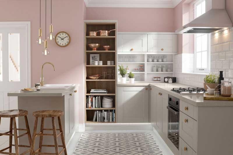 Những mẫu tủ bếp gỗ có màu sắc trẻ trung xinh xắn