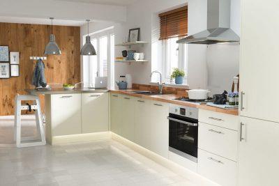 Những thiết kế tủ bếp Acrylic màu trắng hiện đại