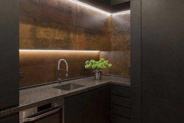 Những mẫu tủ bếp gỗ màu đen sang trọng