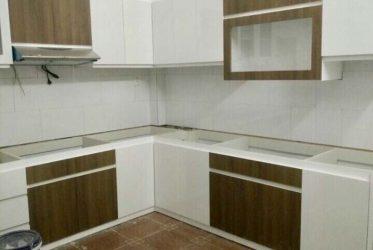 Tủ bếp gỗ công nghiệp MDF đẹp giá rẻ nhà anh Duy ở Tân Bình