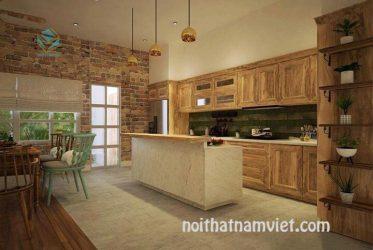 Chọn màu tủ bếp gỗ tự nhiên và công nghiệp theo phong thủy rước tài lộc