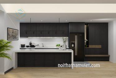 Tủ bếp gỗ Laminate LM-1017