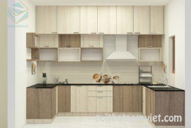 Tủ bếp gỗ Laminate LM-1051