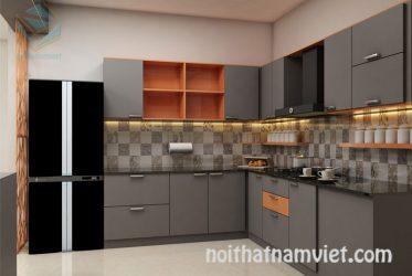 Tủ bếp gỗ Laminate LM-1066
