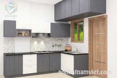 Tủ bếp gỗ Laminate LM-1058