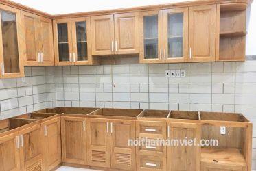 Báo giá tủ bếp gỗ sồi Mỹ tự nhiên mới nhất GS-1003