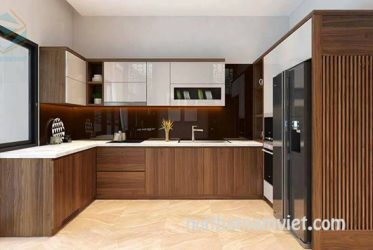 Tủ bếp gỗ Laminate LM-1025