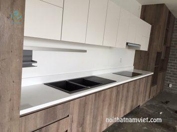 Mẫu tủ bếp Laminat TBLM-037