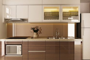 Tủ bếp gỗ Laminate LM-1057