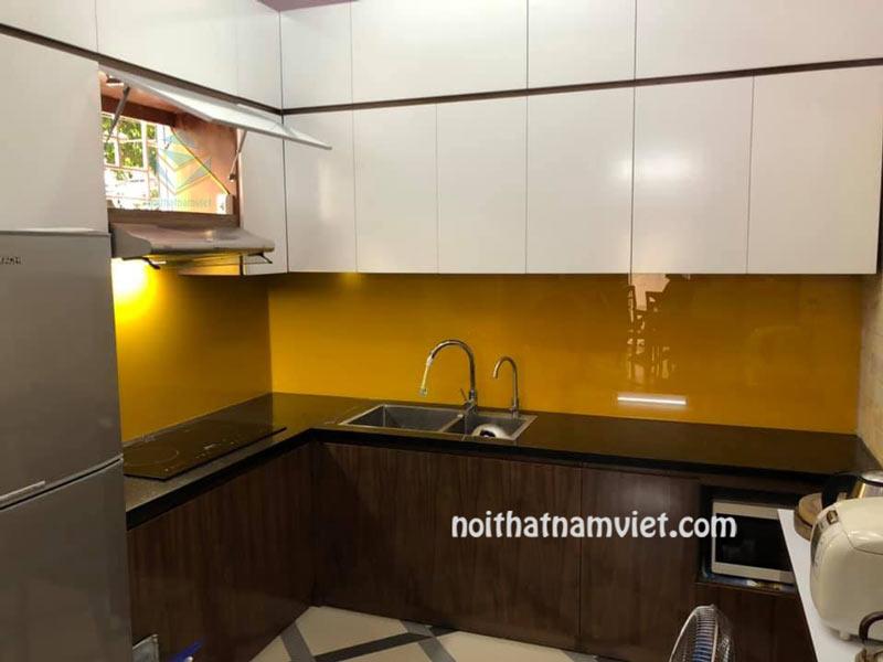 Tủ bếp gỗ Acrylic An Cường đẳng cấp tại TPHCM AC-2106