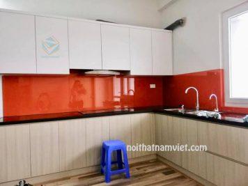 Tủ bếp gỗ Melamine An Cường giá tốt dành cho nhà phố và chung cư