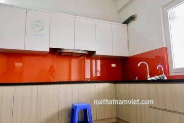 Báo giá tủ bếp gỗ Acrylic An Cường đẹp 2019 AC-2111