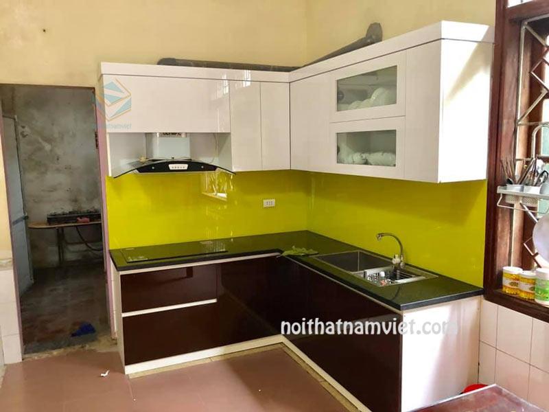 tủ bếp gỗ acrylic an cường