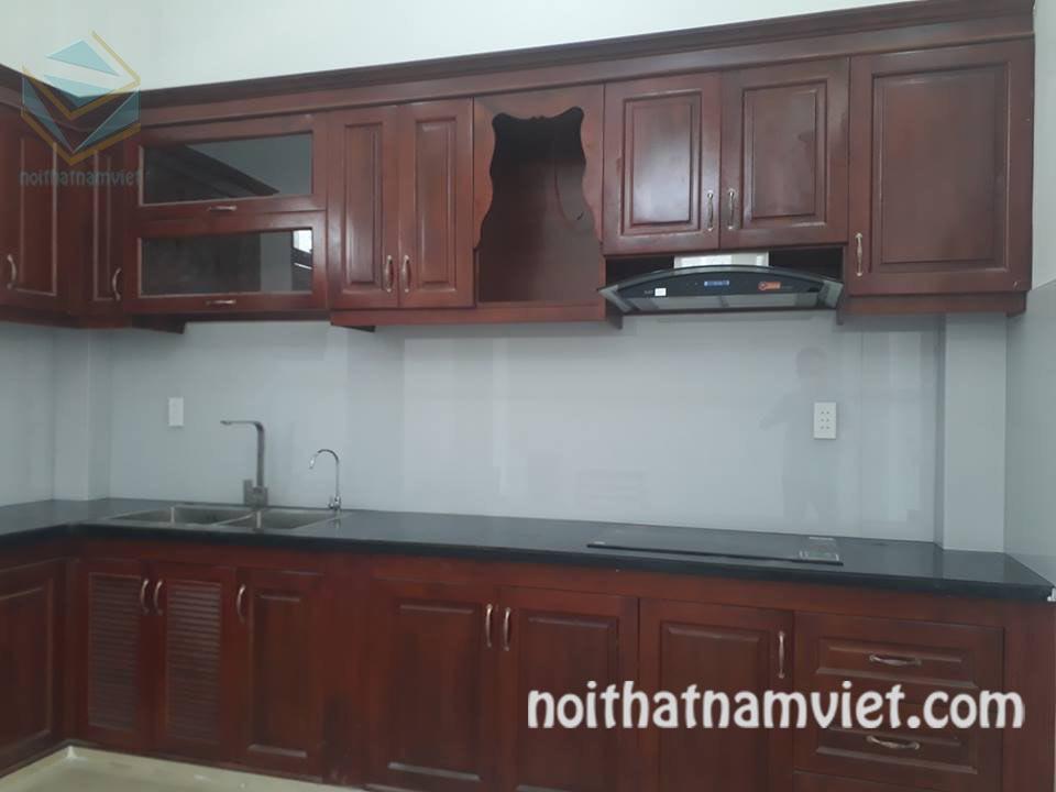 Tủ bếp gỗ Dái Ngựa (Mahogany) tự nhiên giá tốt nhất MH-4004