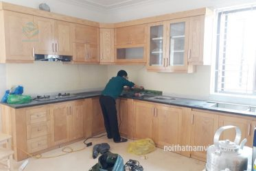 Tủ bếp gỗ ASH tự nhiên AS-2011