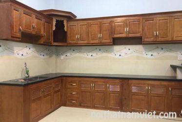 Tủ bếp gỗ sồi tự nhiên đẹp nhất tại Quận 7 TPHCM GS-1025