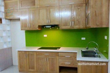 Mẫu tủ bếp gỗ sồi tự nhiên mới nhất giá bao nhiêu GS-1019
