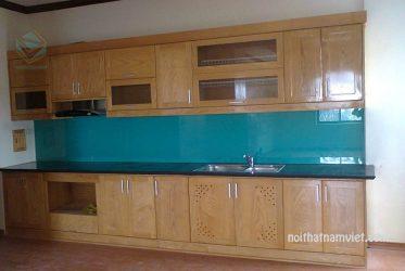 Tủ bếp gỗ sồi tự nhiên mới nhất giá tốt nhất TpHCM GS-1023