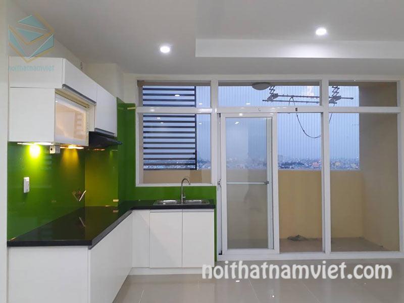 Tủ bếp MDF kháng ẩm phủ melamine