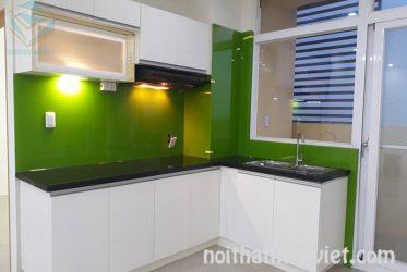 Tủ bếp MDF kháng ẩm phủ melamine đơn giản cho chung cư MM-0022