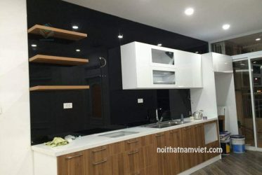 tủ bếp mdf phủ melamine MM-0011