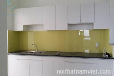 Tủ bếp gỗ MDF phủ Melamine chữ I nhỏ gọn cho căn hộ mini MM-0023