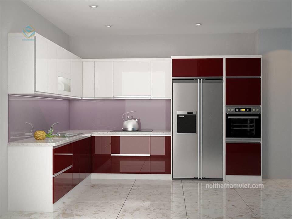 Tủ bếp thùng Picomat cáng Acryl TBARL-050