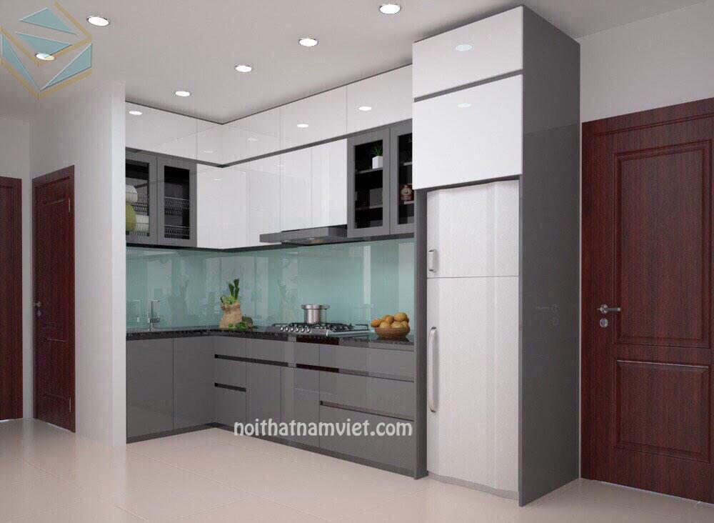 tủ-bếp-acrylic-xam-đẹp