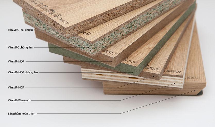 kết cấu vân gỗ Melamine