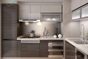 Tủ bếp Acrylic chữ L đẹp – Mẫu thiết kế AC-2128 sang trọng giá tốt TPHCM