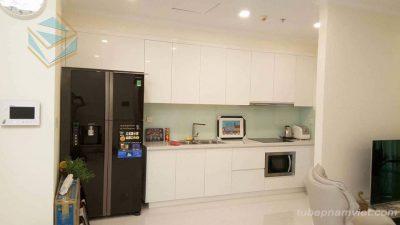 Mẫu tủ bếp gỗ Acrylic cho chung cư AC-2129