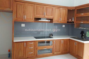 Bảng giátủ bếp gỗ gõ đỏ GD-3007 giá tốt tận xưởng TPHCM