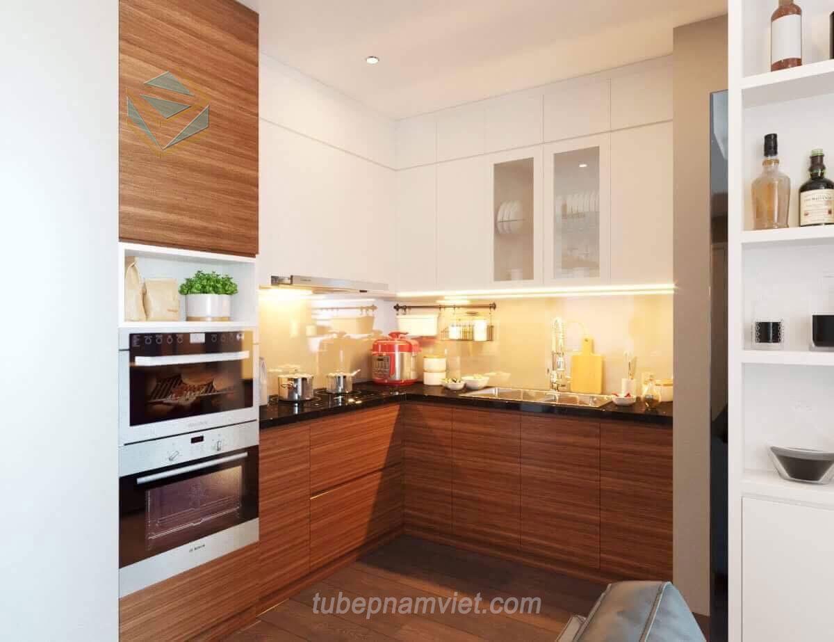 Thi công tủ bếp gỗ Acrylic tại Quận 10 giá rẻ đẹp xuất sắc mã AC-2131