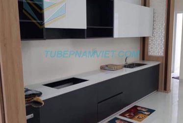 Mẫu tủ bếp acrylic An Cường thiết kế đơn giản tinh tế