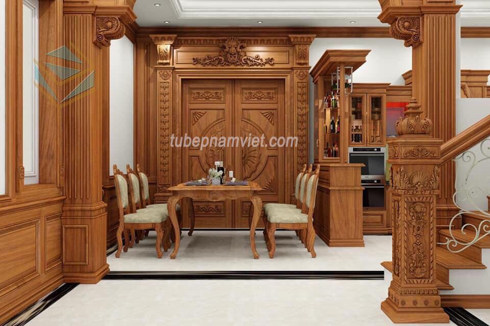 Mẫu thiết kế tủ bế gỗ Gõ Đỏ tự nhiên sang trọng đẳng cấp